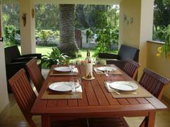 Dining in the patio
