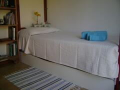Single room. It has a pull-out bed, so it can be set in a double bed.