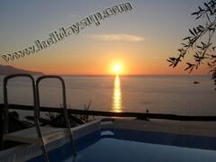 Property Photo: private pool and ocean view terrace at villa in sorrento coast