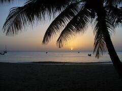Sunset over Castara Bay