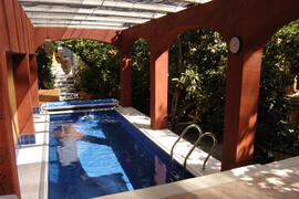 Property Photo: Our solar heated swimming pool