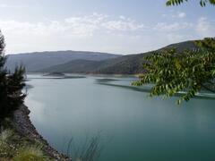 Nearby lake at Iznajar