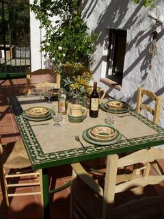 Vine covered Patio for alfresco dining