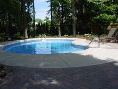 Kidney shaped heated pool