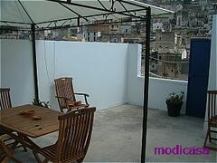 Property Photo: Terrace with view over town