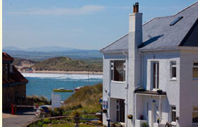 Property Photo: Beadnell Beach Guesthouse and Self Catering, beach, bay and Cheviot hills