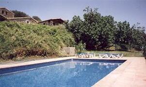 the pool at Mas Grau