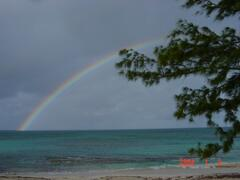 Rainbow viewed from Verandah