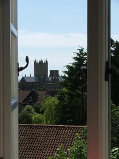 Property Photo: View of Wells Cathedral from a bedroom