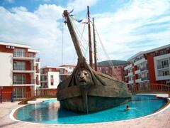 Property Photo: The Pirate Ship, afloat in the cntre of the pool