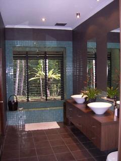 Shower with a view to the rainforest