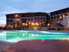 Property Photo: Watermill complex at night