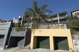 rear garage and balconies