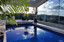 Property Photo: The pool in the lodge is spectacular
