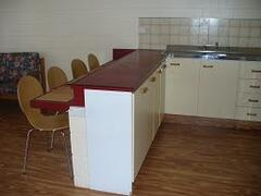Air-Conditioned Kitchen & Living Area