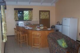 View of open plan kitchen/dining area