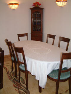 Dining room with table to seat 8