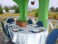 Another area for eating, with seaview