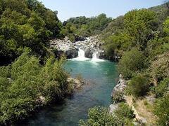 The alcantara river..........