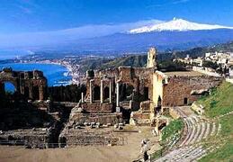 Greek theater in Taormina.........