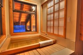 Japanese hinoki bath