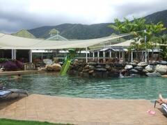 Main resort pool at reception area