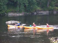 Canoeing on the River Vienne