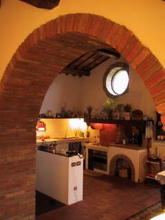 typical umbrian style built-in kitchen