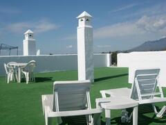All day sun on roof terrace