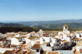looking over the village of Canillas to the sea