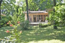 The ample private garden