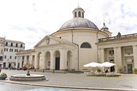 Ariccia's central plaza designed by Bernini