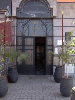Entrance of the house were the holiday appartment is located