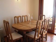 the dining area opens to the front terrace
