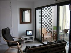 tv and terrace area