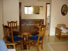 Property Photo: dining area for 6. The dining table can be extended to seat up to 9 people.