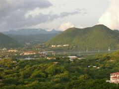 View of Rodney Bay and the Pitons