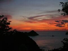 Sunset at Villa Bliss