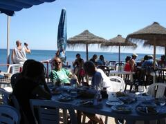 Beach Bar - just across the road - 5 min walk