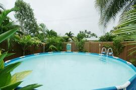 Cairns holiday house pool in tropical garden