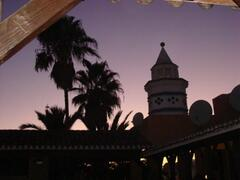 Sunset at the El Zoco
