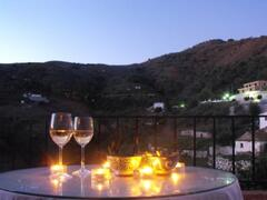 an evening drink on the terrace