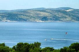 Property Photo: View from the apartment over the bay at Baska Voda