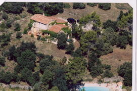 Property Photo: ARIEL VIEW OF FARMHOUSE