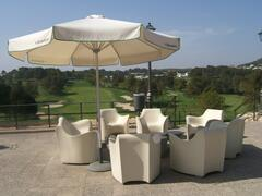 Enjoy a drink and fantastic views of the course from the Clubhouse