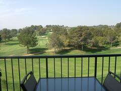 The apartment has outstanding frontline views of the 9th hole on the course