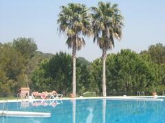 The large communal swimming pool is perfect for relaxation