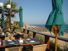 View from one of the Restaurants at Vale Do Lobo Beach