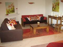 Lounge area with 2 sofas (double sofa bed)