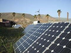 Solar panels & wind turbines